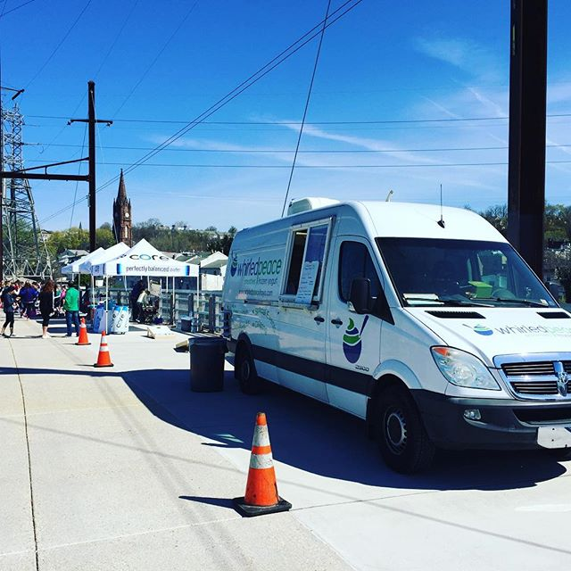 What a day! Come see us on the #manayunkbridge from 11-3! Yoga and #freefroyo