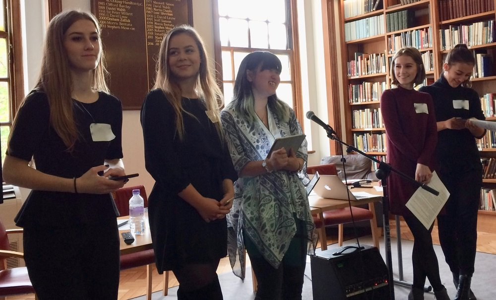 Forum Organisers, from left to right: Charlie, Alex, Anne-Marie, Gwen and Isla