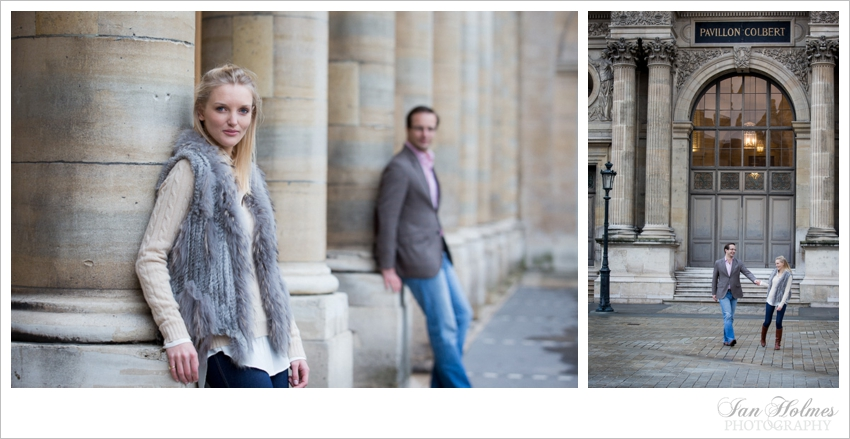 engagement photography in the louvre