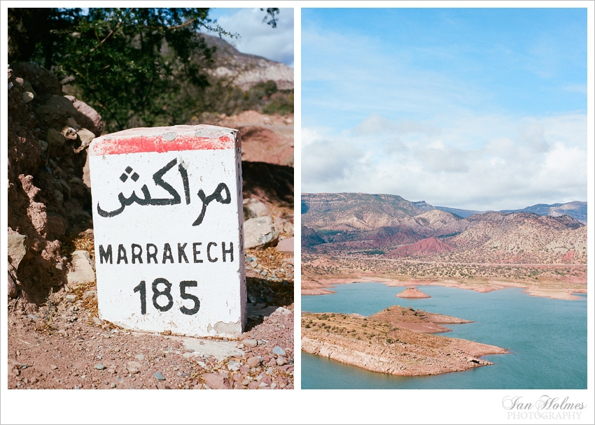 moroccan road sign