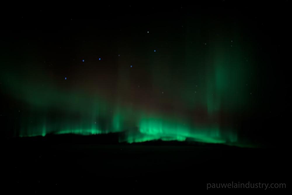 Aurora Borealis under the Big Dipper.