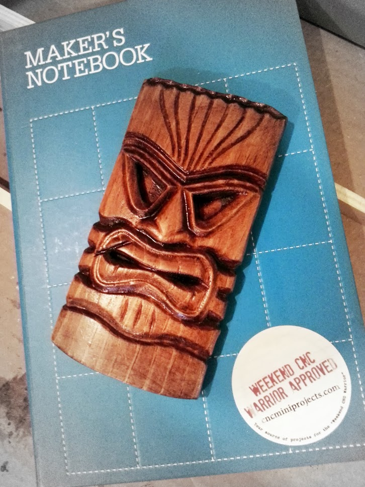 "The Tiki Mask model machined at 4"" tall.... looks pretty sharp!  Added a scar to its lip just to make it look more real."