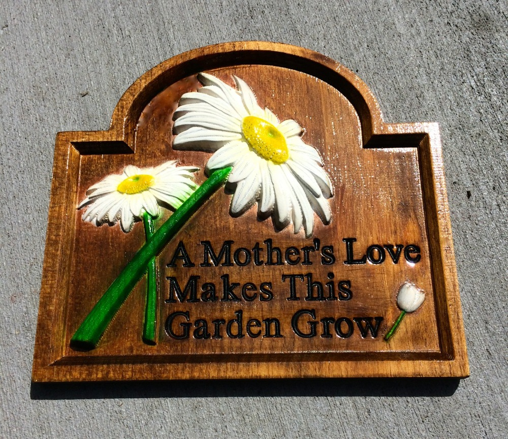 John used the  Mothers Garden No.1  mini-project to help make this wonderful finished piece.