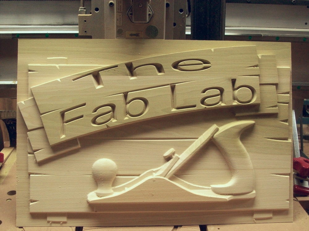 Don's Fab Lab will look some snazzy with this new sign!