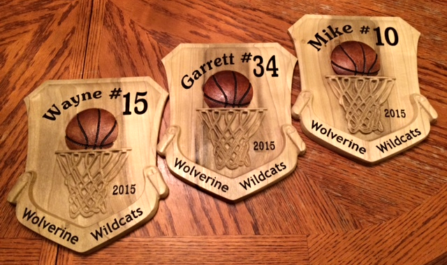 Thank you  Patrick Green  for this great image of his basketball plaques!