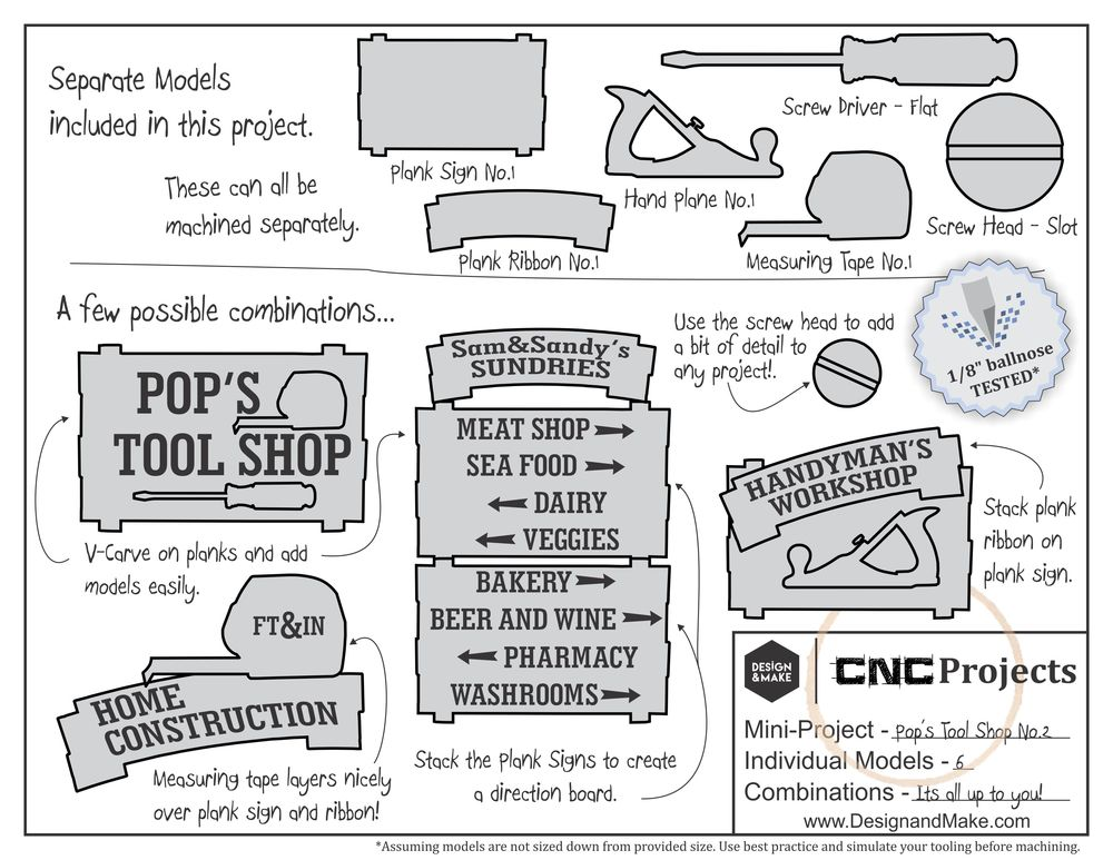 The project sheet included with out Pop's Tool Shop No.2project. Click to enlarge.