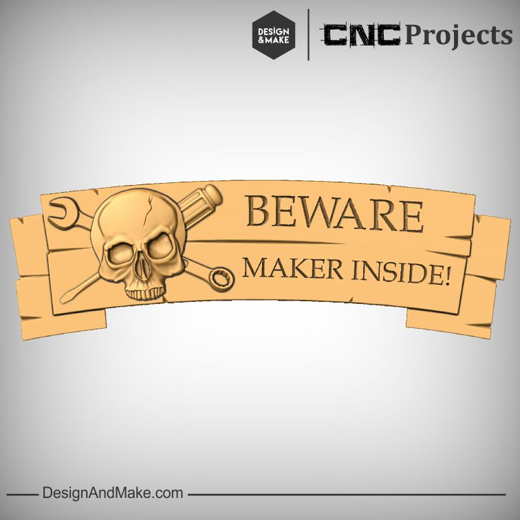 Perfect customizable CNC project hack for the door to your own personal or  local  Makerspace.