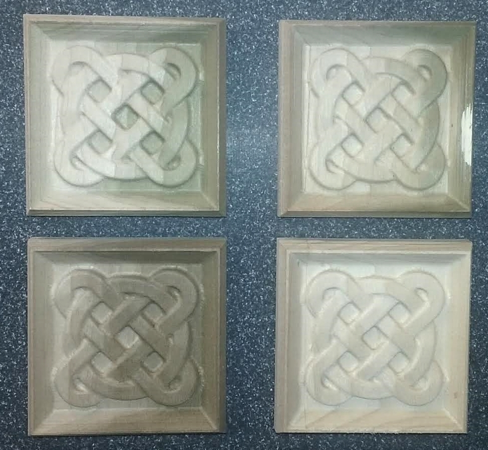 Celtic rosettes for a window trim
