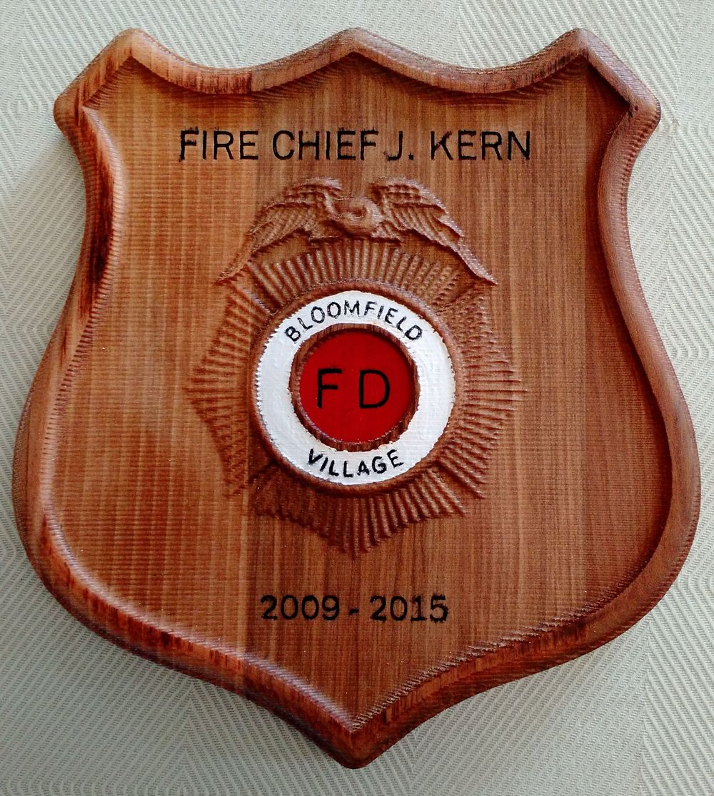Fire Chief Plaque
