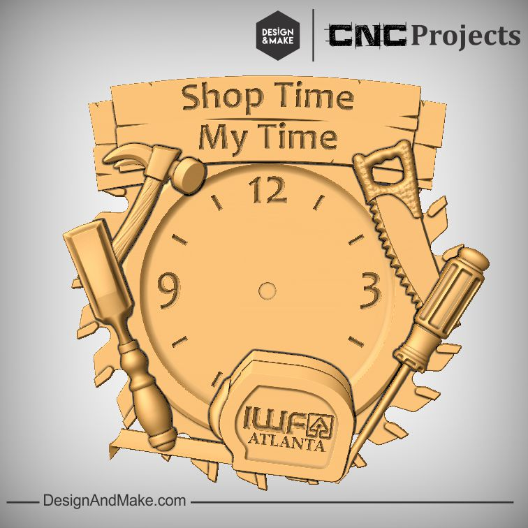 """Shop Time, My Time""  Clock Layout"