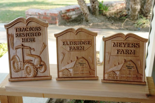 Plaques made in cherry by Dan Steege
