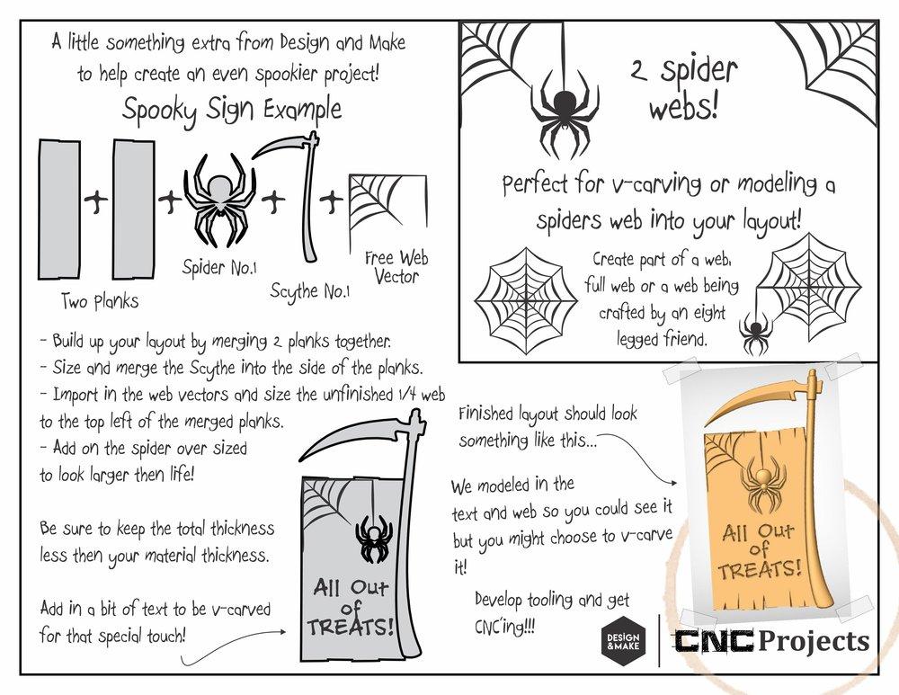 Free Spider Web V-Carvable vector outlines!