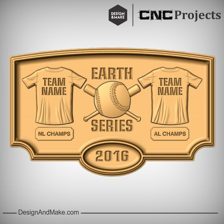 Design and Make Hack of the Week No.122 - Baseball Champs Plaque