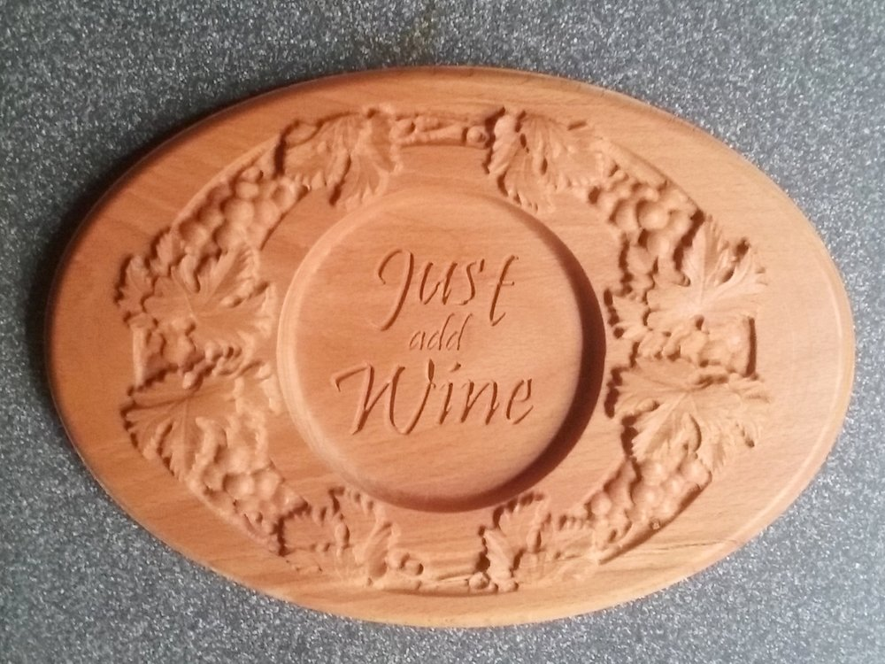 Thanks to Don Harding for making this finished wine coaster.