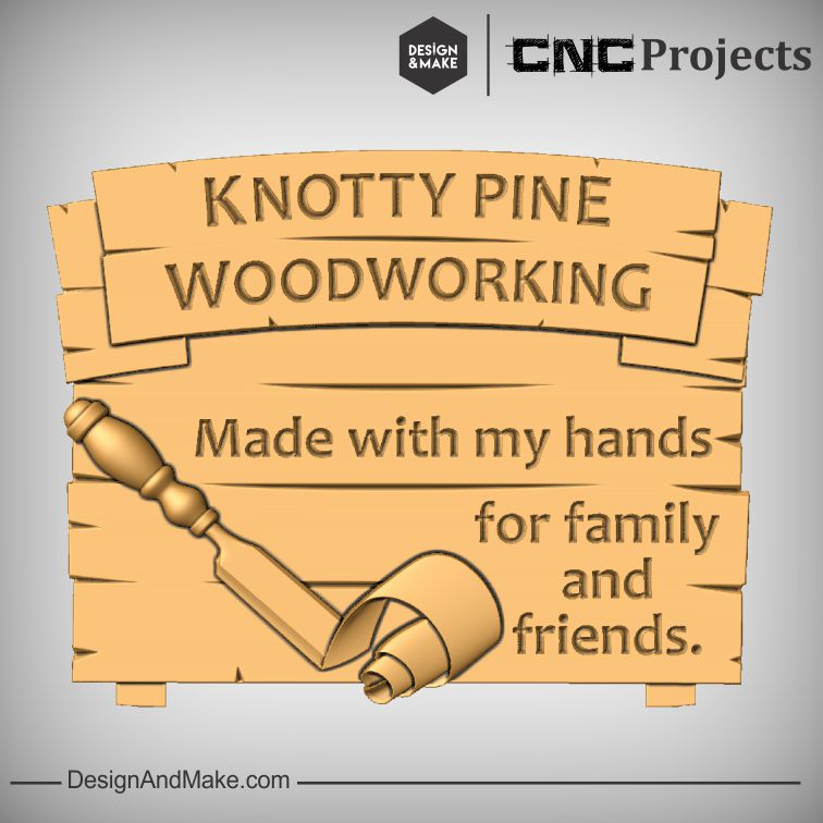 """Knotty Pine Woodworking"" Shop Sign"