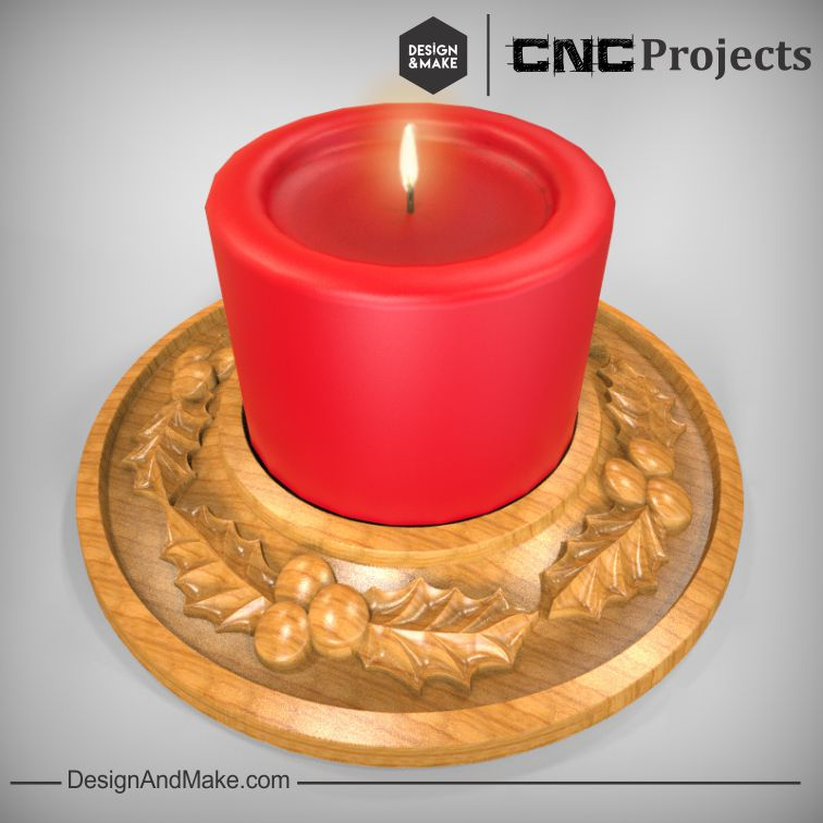 Rendering of possible finished candle trivet.