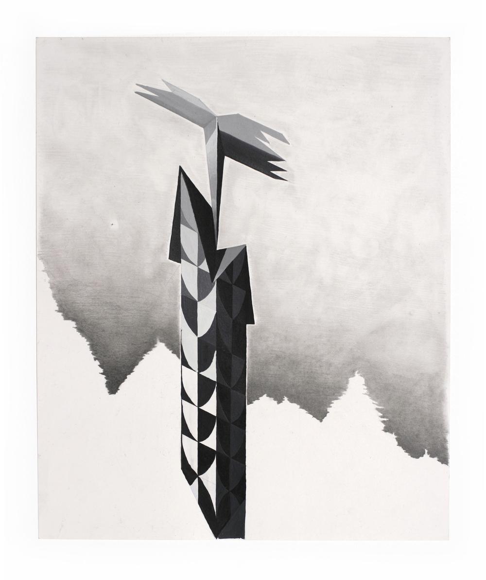 Totem #1 in grey
