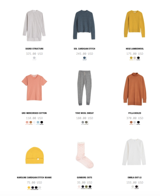 Norse Projects Women's - color palette