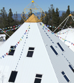 The Central Pyramid at the Shambhala Monastery in Lake County, California