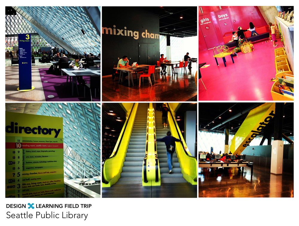 Some snapshots of The Seattle Public Library from my Instagram.