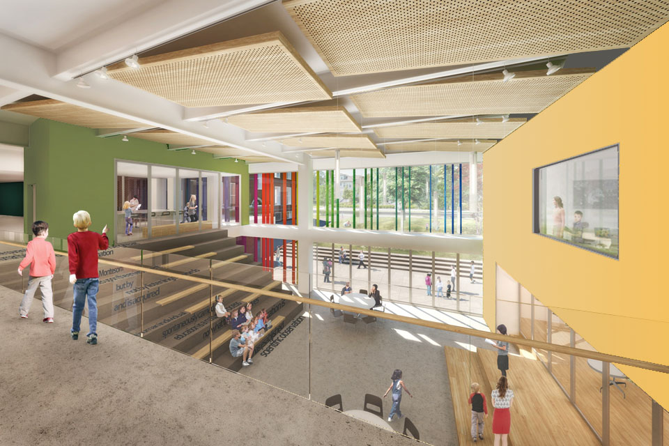 Montessori Classroom Wall Design ~ Chiaravalle montessori school — the third teacher