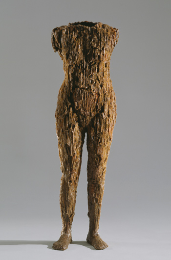 Primal Self-Portrait , 2008. Casting wax; 59 x 17 x 14.5 in. Work in progress.