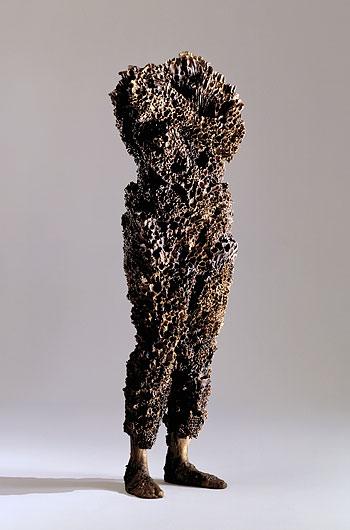 Volcana,  2004-5. Cast bronze: 62 x 18 x 12 in. Private collection.