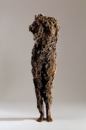 Aphrodite , 2004-5. Cast bronze: 61.5 x 17.5 x 11.5 in. Private collection.
