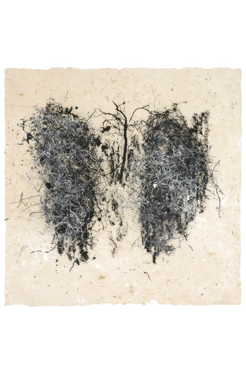 Lungs , 2007. Relief print; 48 x 48 in. Courtesy: Wildwood Press.
