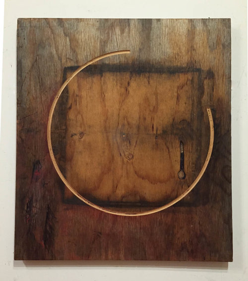 Wu Wei , 2015. Plywood, oil paint: 36 x 32 in.