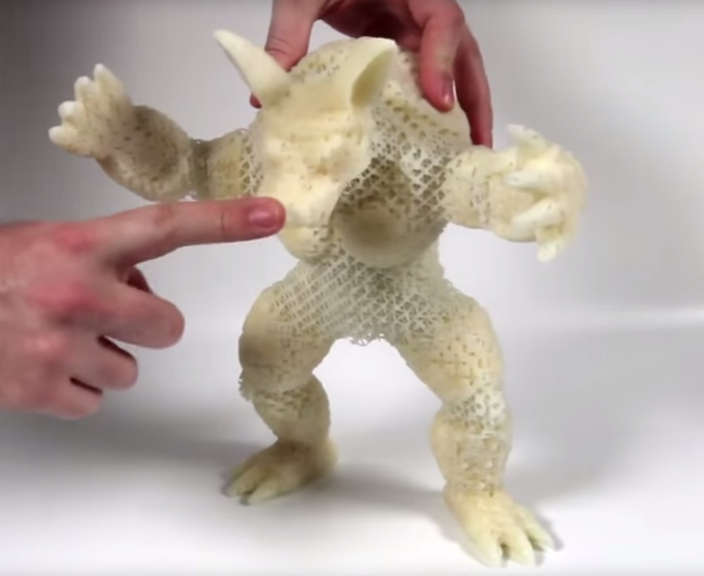 3d print flexible objects with solid plastic  disney can