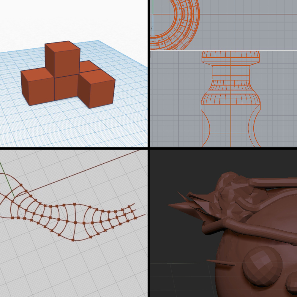 Four Styles Of 3d Design Software