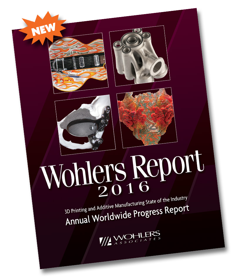 Wohlers 2016 3D printing report cover