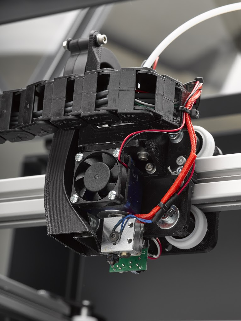 Fusion3 F400 extruder detail