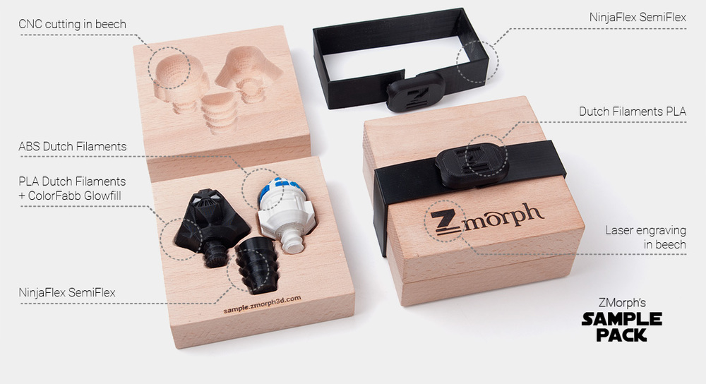 Incredible multi-fabricated gift box using the ZMorph 2 SX