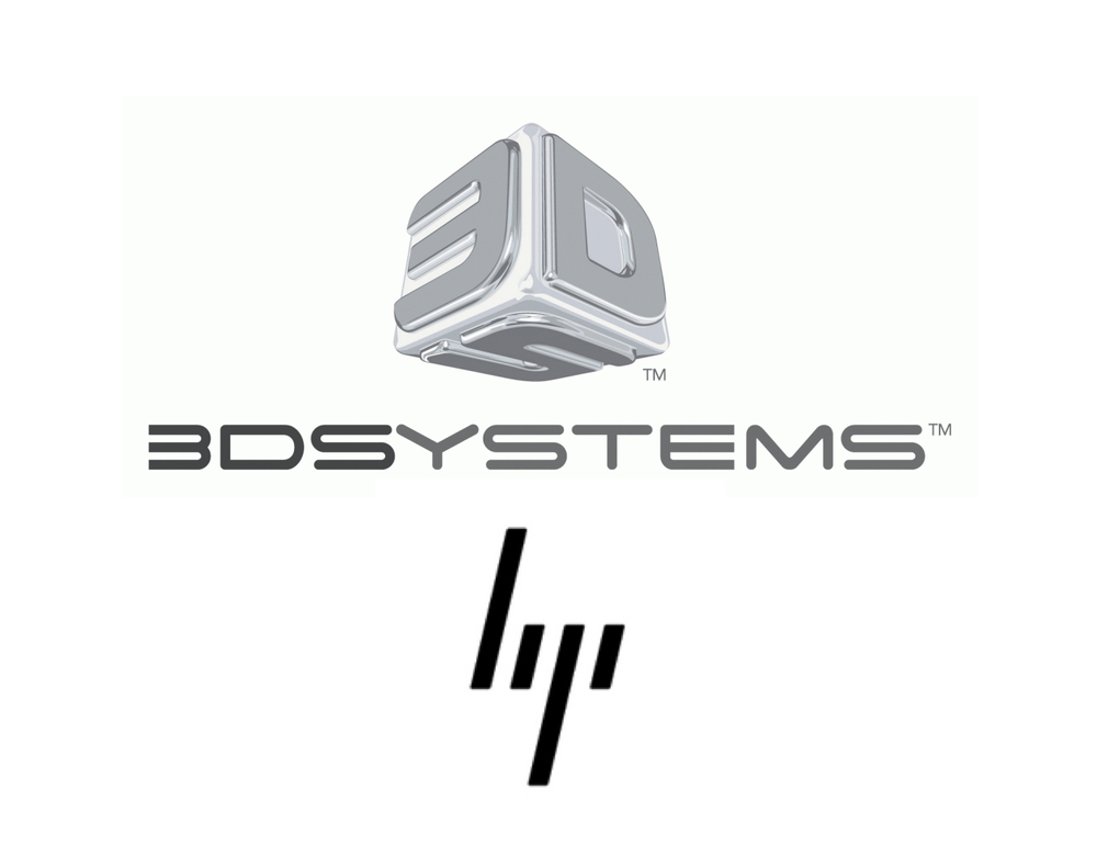 HP and 3D Systems logos