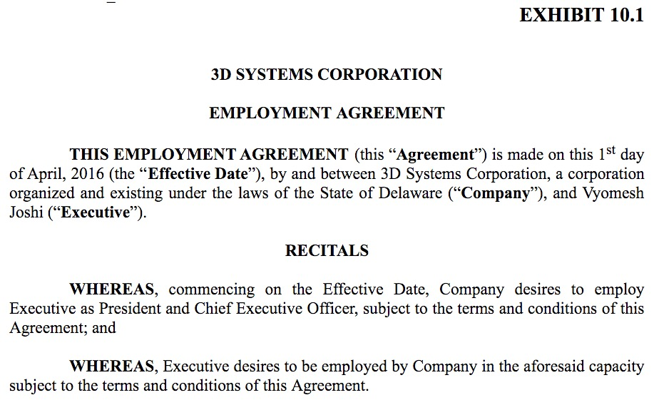 D Systems New CeoS Compensation Hints At The CompanyS Strategy