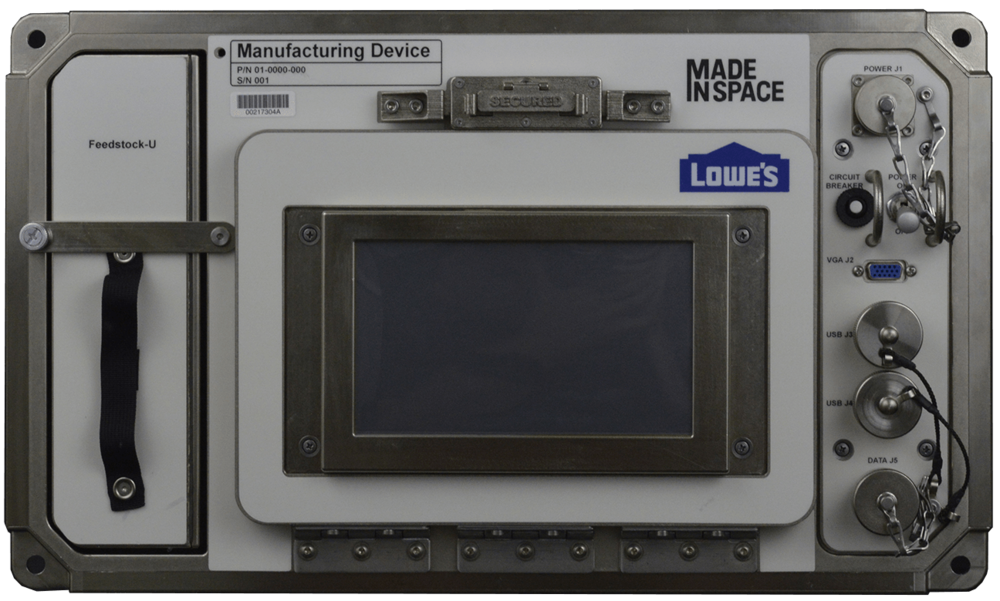 MadeInSpace's Additive Manufacturing Facility, an orbital 3D printer