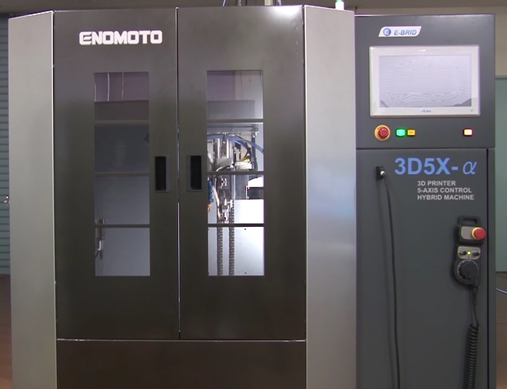 The experimental ENOMOTO hybrid CNC / 3D printer, the 3D5X-a