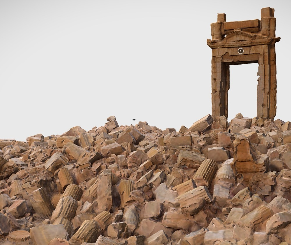 3D model of the destroyed Temple of Bel in Syria