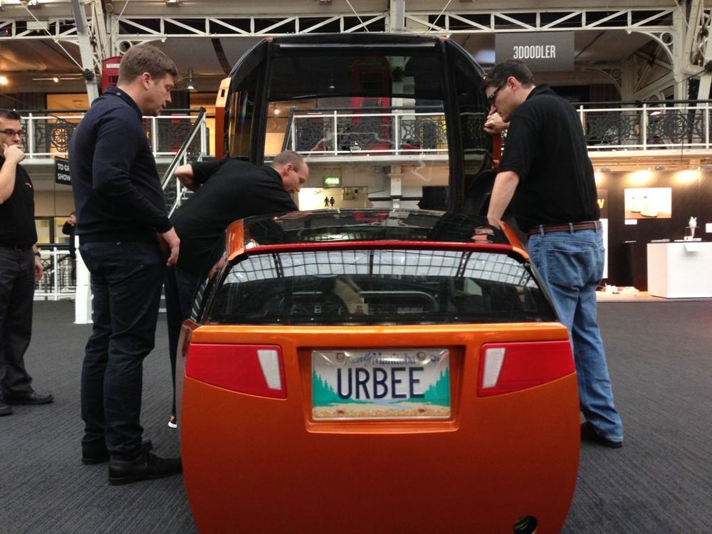 The URBEE, the world's first 3D printed car. Sort of