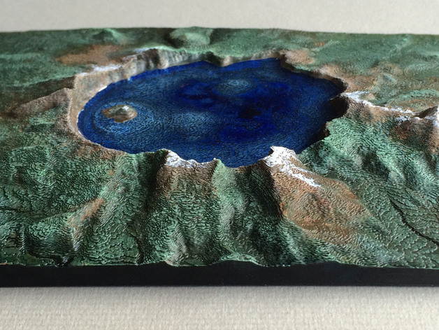 3D printed and highly finished version of Oregon's Crater Lake