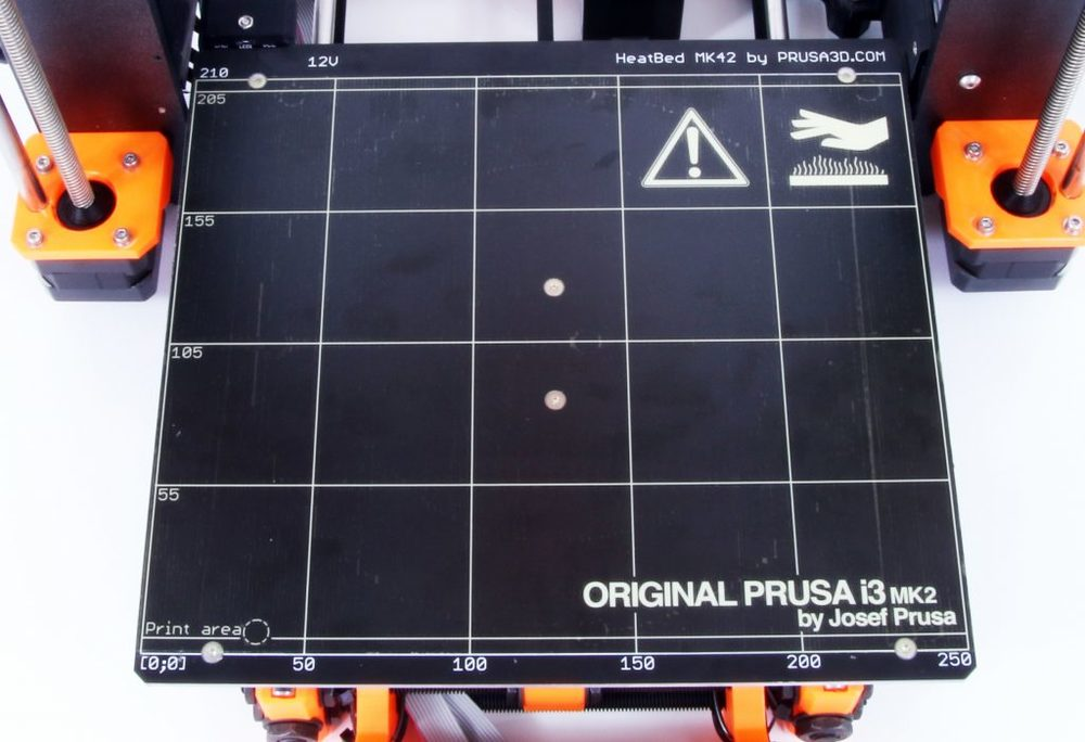 The Prusa i3 MK2's new PEI-surfaced print plate