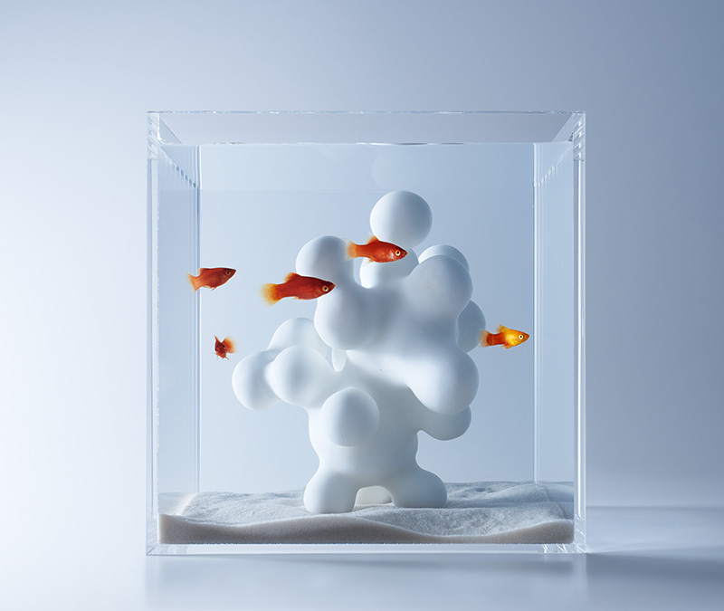 An item from Haruka Misawa's Waterscapes collection of 3D printed aquarium structures