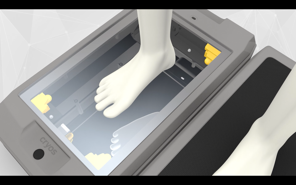 The Cryoscan3D foot scanner, powered by Fuel3D