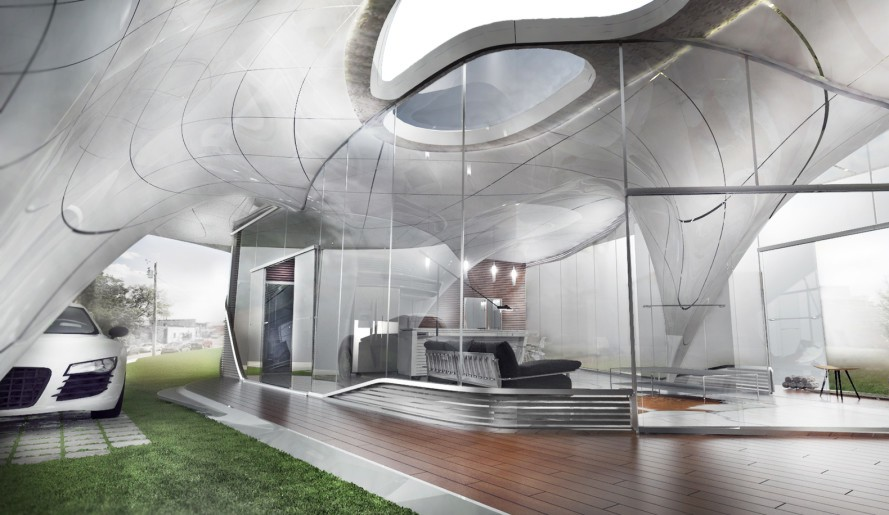 "WATG Urban's ""Curve Appeal"" 3D printed home design"