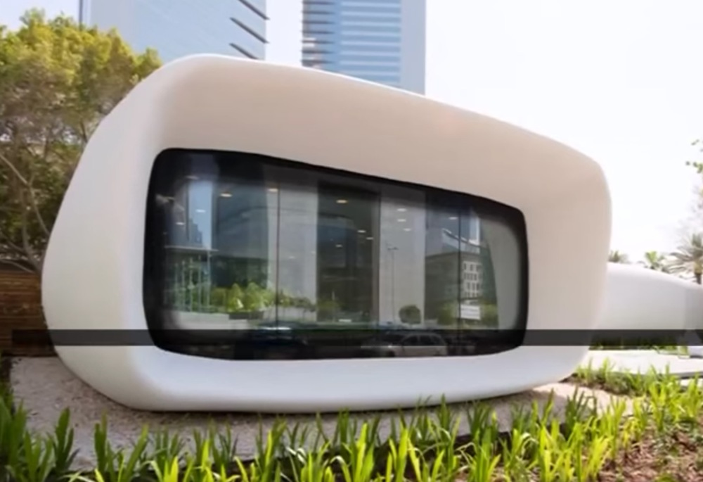 A prototype 3D printed office in Dubai