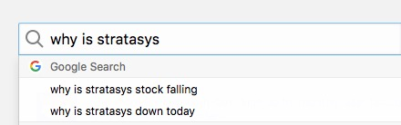 Google search for Stratasys