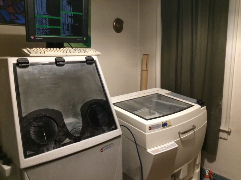 A used ZCorp Z310 powder 3D printer