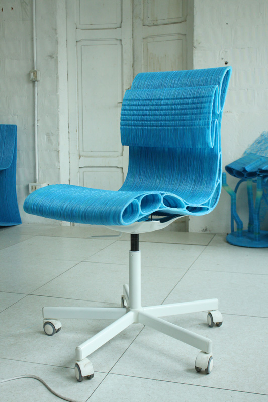 A fully functional 3D printed chair made on the DeltaWASP